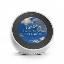 Echo Spot bietet Ihnen alles, was Sie an Alexa lieben – in einem stylischen und kompakten Design.