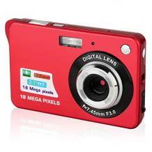 18 MP Mini-Kamera mit 2,7-Zoll-LCD-Display und 8-fachem Digitalzoom