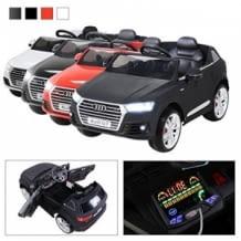 Cooler Audi für den Nachwuchs, inkl. Sicherheitsgurt und Fernbedienung für die Eltern, Geräuscharme Vollgummireifen