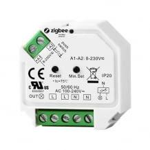 Unterputz-Dimmaktor mit ZigBee Funkstandard und Taster-Anschluss. Fernsteuerung per App oder Sprache.