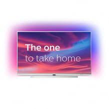 55 Zoll Philips Ambilight Smart TV mit 4k UHD. Mit 3-seitigen Ambilights, schwenkbarem Fuß und Sprachsteuerung.