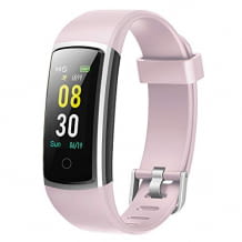 Waterproof smartwatch with heart rate monitor, pedometer, sleep monitoring and 14 sport modes