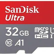 Micro-SD Speicherkarte mit SD Adapter und Übertragungsgeschwindigkeiten von bis zu 100 MB/Sek. Schnelles Laden von Apps.