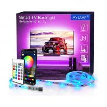 LED TV Hintergrundbeleuchtung mit Fernbedienung und App-Steuerung. Inklusive Musik-Synchonisation des Lichts.