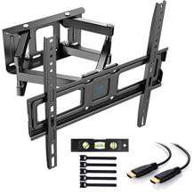Für Fernseher bis 55 Zoll. Schwenk-, neig- und drehbar für maximale Flexibilität. Robust und sicher.