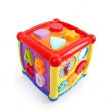 Musikspielzeug für Kinder bis 18 Monate. Ideales Lernspielzeug zum Formen lernen und drei Musikmodi.
