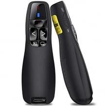 Universal kompatibel mit bis zu 15 Metern Reichweite. Mit 5 Tasten-Design für optimales präsentieren.