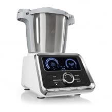 Multifunktions-Küchenmaschine mit 1000 Watt. Inkl. Kochfunktion mit verschiedenen Leistungsstufen.