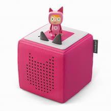 Das Starterset enthält die Toniebox, Ladestation und eine Kreativ-Tonie Figur für die Wiedergabe eigener Audio-Inhalte