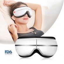 Augen-Massagegerät mit Wärmfunktion und vier Vibrations-Stufen, kabellos und faltbar