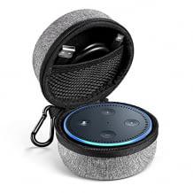 Echo Dot 2 Tragetasche passend für Lautsprecher, USB Kabel und Netzteil