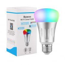 Dimmbare und mehrfarbige LED Glühbirne. Steuerung über App, Timer-Funktion oder Sprachassistenten wie Alexa und Google Home.