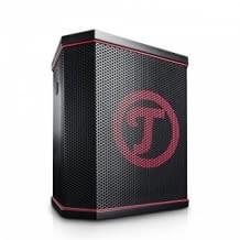 Raffiniertes Produktdesign für optimiertes Abstrahlverhalten gewährleistet besten Klang auch für große Parties.