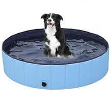 Faltbarer Hundepool mit Anti-Rutsch-Boden und Ablassventil