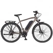 Das Trekking E-Bike glänzt mit EcoDrive Mittelmotor von AEG und hydraulischen Scheibenbremsen