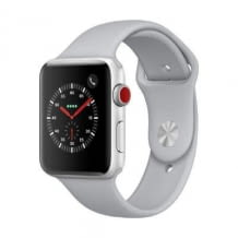 Apple Watch Series 3, 42 mm Alu. Silber, Sportarmband Nebel