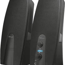 Lautsprecher Set mit USB-Betrieb, Kopfhöreranschluss und Leistungs- sowie Lautstärkeregler. Für gute Klangeffekte.