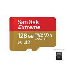 4k UHD-fähige MicroSD Karte mit SD Adapter und bis zu 160 MB/Sek. Lesegeschwindigkeit.