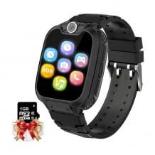 Kinder-Smartwatch mit Telefon. Inkl. integrierter Spiele, Alarme, Rekorder, Musik-Funktion, Kamera und SOS-Funktion.
