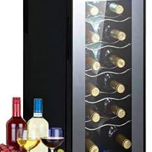 Kompakter Weinkühlschrank passend für 12 Weinflaschen. Mit einstellbarer stimmungsvoller Innenraumbeleuchtung und Touchbedienung.