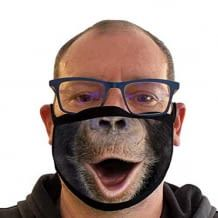 Funny mouth and nose protection mask in 3D optics. Breathable and reusable.