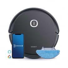 Saugroboter mit Wischfunktion, systematischem Reinigungsweg, App- und Sprachsteuerung und einem extra Haustier-Set.