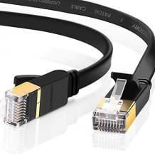Cat 7 Kabel für Netzwerkgeschwindigkeiten von bis zu 10Gbit/s. Hervorragende Abschirmungswirkung. Breite Kompatibilität.