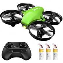 Mini-Drohne mit allseitigen Schutzvorrichtungen, einfachem Bedienen und automatischer Höhenhaltung.