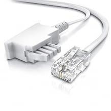 0,5m Internetkabel, kompatibel mit DSL/ VDSL, FRITZ!Box und an Telefondose TAE. Mit zwei-poliger Belegung.