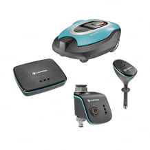 inkl. smart Sileno Mähroboter für bis zu 1000 m² Rasenfläche, smart Water Control, smart Sensor und smart Gateway