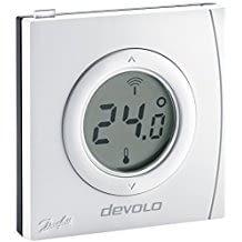 Smartes Thermostat mit Z-Wave Funktechnik und beleuchtetem Display zur Temperaturanzeige