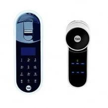 Sicheres Entriegeln der Tür mit Pin, Fingerabdruck oder per Bluetooth. Registrierung von bis zu 20 Anwendern. Einfache Installation.
