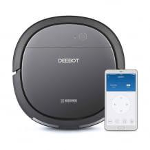 Ultraflacher und kompakter Saug- und Wischroboter für gründliche Reinigung auch unter Möbelstücken. Mit App- und Alexa-Steuerung.