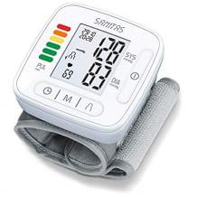 Zuverlässige Blutdruck- und Pulsmessung am Handgelenk. Mit LCD-Display und Anzeige der Durchschnittswerte.