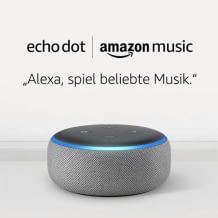 Echo Dot und Amazon Music Unlimited Mitgliedschaft im Set.