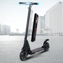 Bis zu 30 km/h, herausnehmbarer Akku, LED-Scheinwerfer und Bremslicht