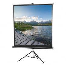 Tragbare Leinwand für den flexiblen und mobilen Einsatz in der Größe 158 x 158 cm