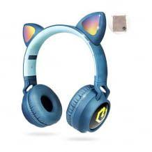 Kabellose Kopfhörer mit Lautstärkebegrenzung, tollem Sound und LED-Lichtern. Strapazierfähig und komfortabel.