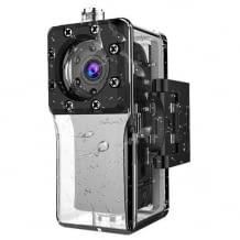 Mini Kamera für Outdoor-Sportler mit wasserdichtem Gehäuse und Full HD Auflösung.