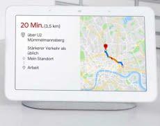 Google Nest Hub erleichtert den Alltag und gibt aktuelle Informationen zum Arbeitsweg