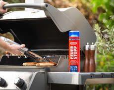 Heißes Wetter lädt zum Grillen ein - zum Löschen bei Fettbränden hilft das ABUS Feuerlöschspray Feuerstopp