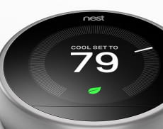 Nest Thermostat - Steuerung des Thermostats. Design
