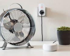 Dank der Hama WLAN Steckdose wird auch ein herkömmlicher Ventilator smart nachrüstbar