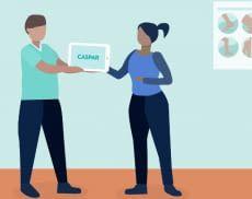 Caspar Health bietet online Übungen, Seminare und Schulungen