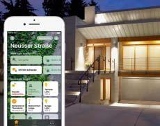 Mehrere steuerbare Smart Home-Geräte in der App von Apple HomeKit