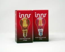 Alle Innr Filament Lampen-Modelle leuchten warmweiß und sind dimmbar
