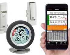 Cosy Radar mit Thermo-Hygrometer, Thermo-Hygrosender und App