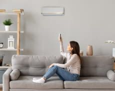 Eine Split Klimaanlage kühlt schnell und effizient