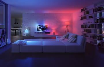 Ambilight wirkt mit Hue TV App raumübergreifend