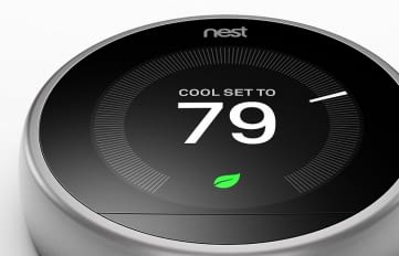 Nest Thermostat - Steuerung des Thermostats. Design